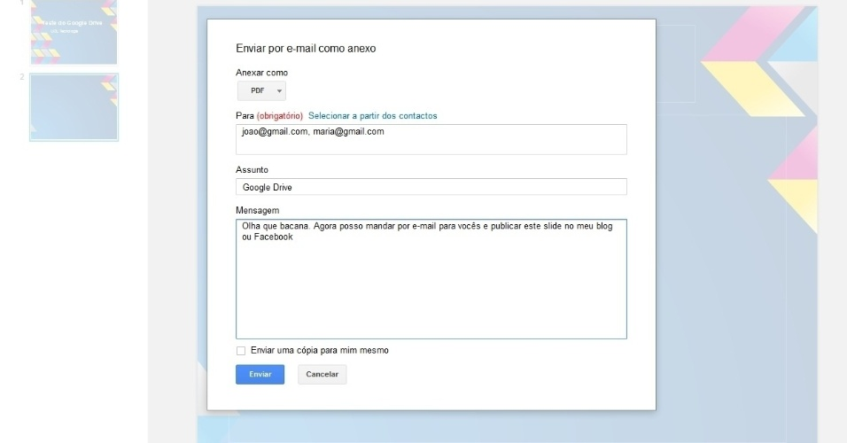 how to add google drive photos to emails
