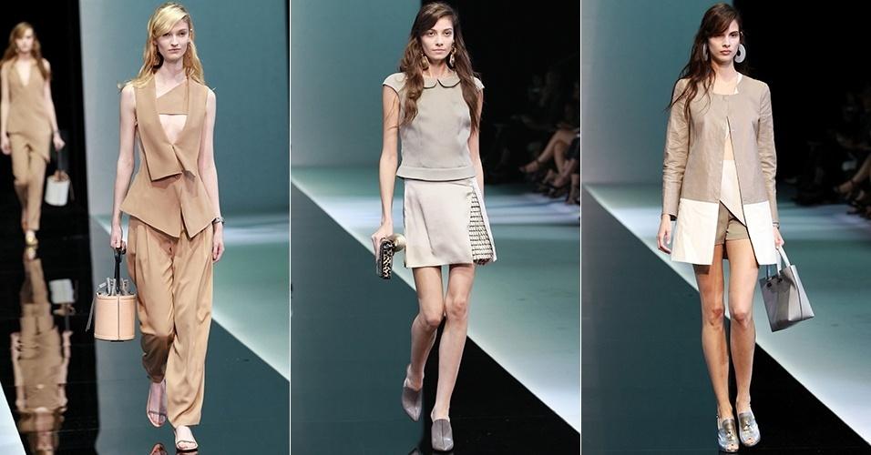 785bcddc81432 Adote um estilo levemente irreverente com a coleção de roupas femininas  Emporio Armani. Compre online roupas suntuosas na Farfetch e pague em até  12x.