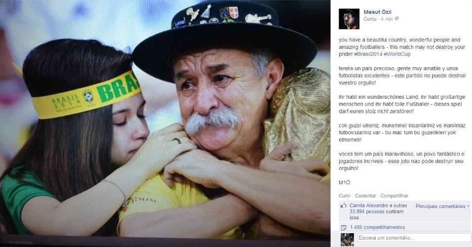 Jogadores alemães mandam mensagens de consolo para o Brasil após 7 a ... 32ff55b4860fa
