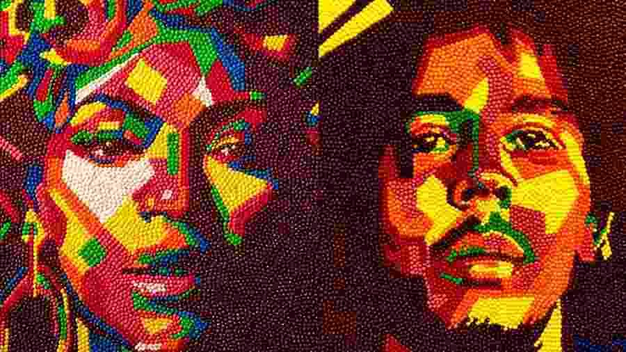 Como símbolo de resistência, Harold Claudio cria quadros com famosos negros usando balas - Reprodução/haroldcaudio