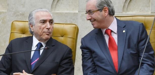 Michel Temer (e) e Eduardo Cunha juntos em foto de junho de 2015