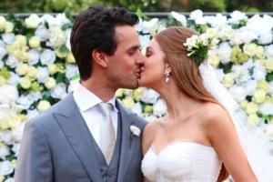 Marina Ruy Barbosa durante o casamento com Xande Negrão