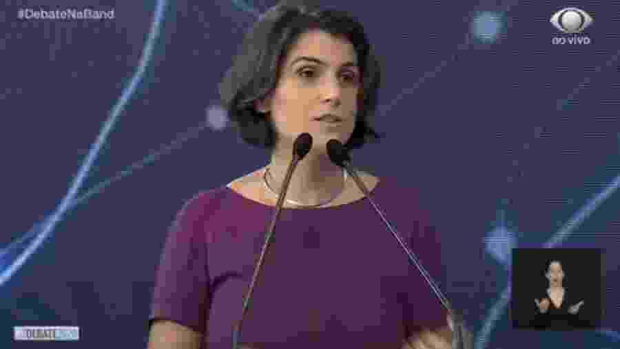 """Manuela D""""Ávila, candidata à prefeitura de Porto Alegre - Reprodução/Band"""