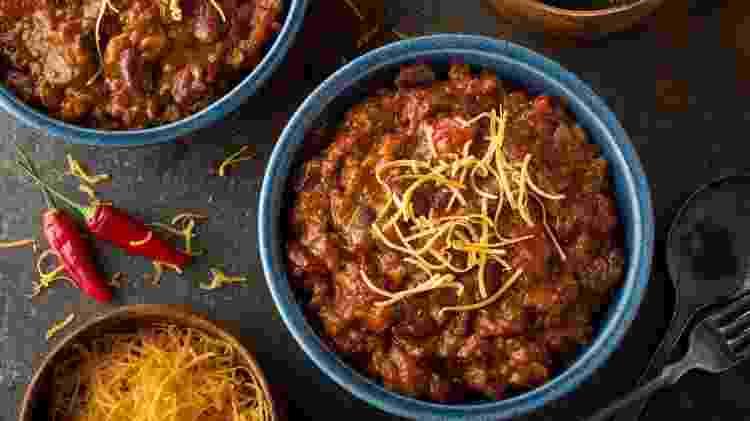 O chilli mexicano é um dos vários pratos que você pode preparar com carne moída - Getty Images/iStockphoto