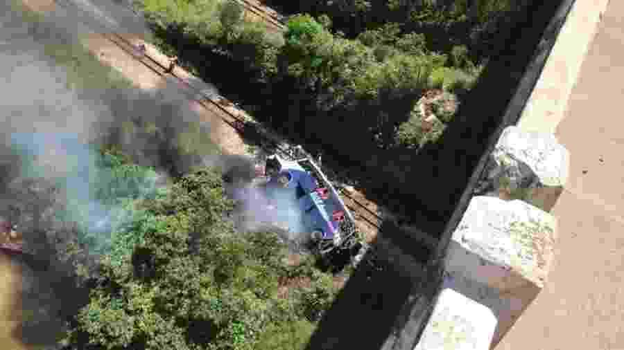 """""""Profundamente consternado. Que Deus conforte as famílias"""", disse o governador Renan Filho (MDB) - Divulgação/Corpo de Bombeiros de Minas Gerais"""