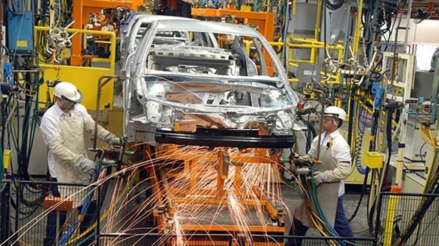 Linha de produção da fábrica da GM em São Caetano do Sul, no ABC paulista - Divulgação