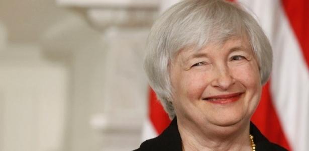 Janet Yellen, presidente do banco central dos EUA, o Fed - Charles Dharapak