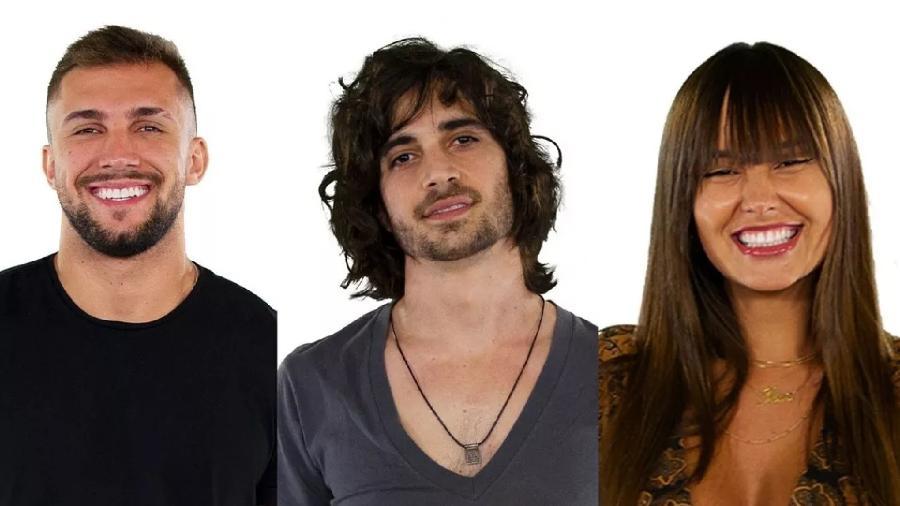 Arthur, Fiuk e Thaís no paredão - Reprodução/Globo
