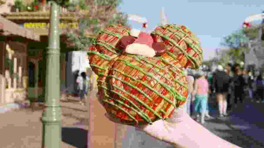 No parque Magic Kingdom, no complexo Disney, você encontra comidas especias nesse fim de ano - Divulfação/Delish