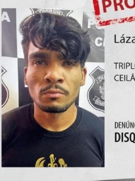 Lazaro Souza e suspeito de matar quatro pessoas de uma família em Ceilândia distrito federal uma delas após sequestro - Divulgação/Polícia Civil do Distrito Federal