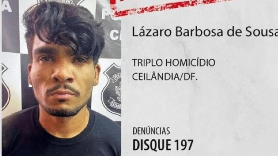 Lázaro Barbosa é suspeito de matar quatro pessoas de uma mesma família em Ceilândia - Divulgação/Polícia Civil do Distrito Federal
