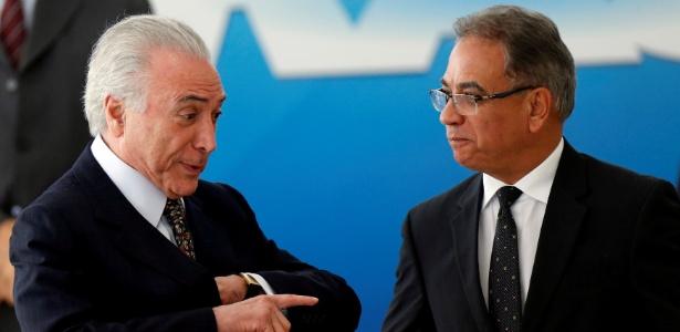 Michel Temer e Ronaldo Fonseca, novo ministro da Secretaria-Geral da Presidência - Adriano Machado/Reuters
