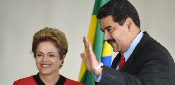 Maduro e Dilma em julho de 2015 - Evaristo Sá/AFP