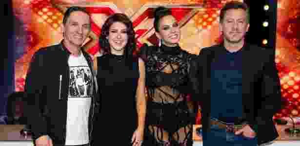 """Paulo Miklos, Fernanda Paes Leme, Alinne Rosa e Rick Bonadio no lançamento de """"X Factor Brasil""""; formato que não deu muito certo no Brasil - Manuela Scarpa/Brazil News"""