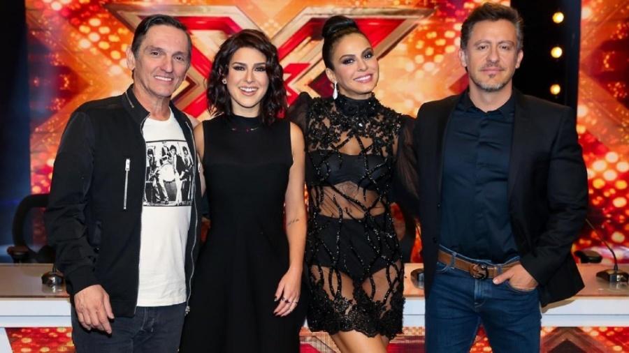 "Paulo Miklos, Fernanda Paes Leme, Alinne Rosa e Rick Bonadio do primeiro e único ""X Factor Brasil"" - Manuela Scarpa/Brazil News"