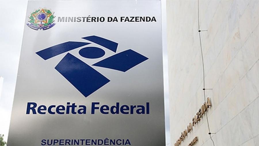 Placa do prédio da Receita Federal em Brasília - Sergio Lima/Folhapress