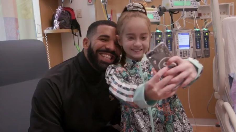 Drake visita criança em hospital - Instagram