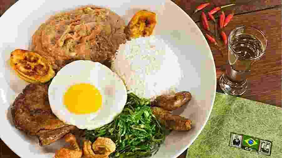 Interpretação da chef Mara Salles para o virado à paulista, prato que se transformou em ícone de São Paulo - Marcos Issa/Argosfoto