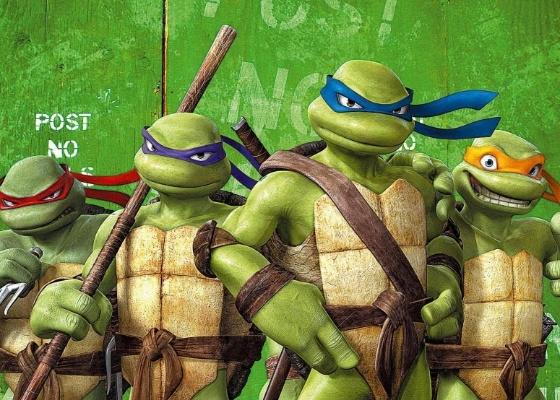 """Raphael, Donatello, Leonardo e Michelangelo em cena da animação """"Tartarugas Ninja - O Retorno"""" (2007), dirigido por Kevin Munroe"""