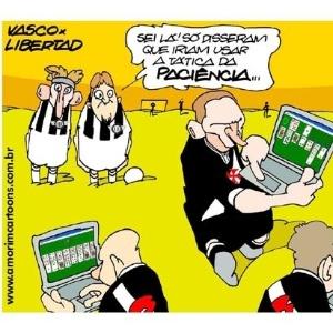 Corneta FC; Vasco adota tática da paciência na Libertadores