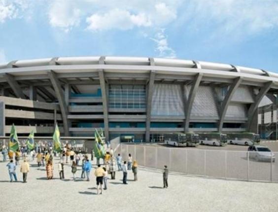 Desenho de como será o Maracanã após reformas