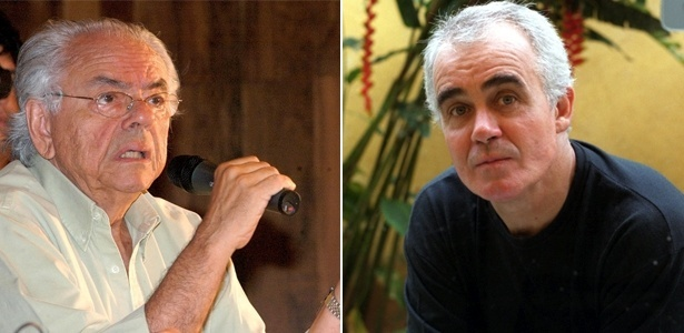 O cineasta Zelito Viana (esq.) e o diretor de fotografia Cesar Charlone, que participam do júri do É Tudo Verdade 2012