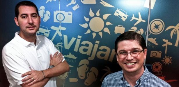Alex Todres (à esquerda) e Bob Rossato (à direita) alcançaram o faturamento de R$ 200 milhões em 2011 com a agência de viagens online Viajanet - Leandro Moraes/UOL