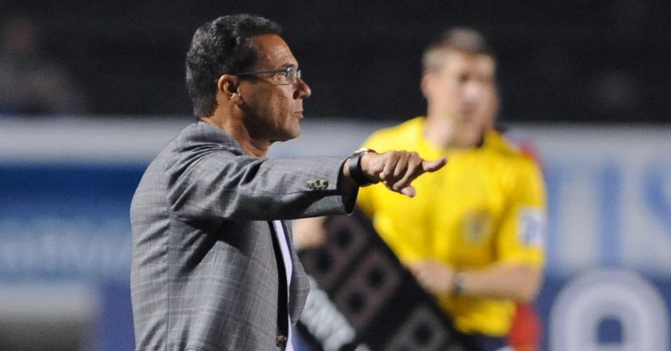 Vanderlei Luxemburgo quer corrigir falhas do Grêmio para fases seguintes da Copa do Brasil (21/03/2012)
