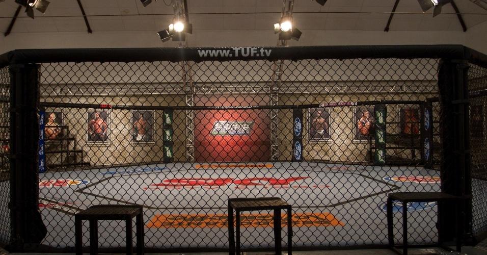 A estrutura de treinos é semelhante à do reality show produzido nos Estados Unidos, com octógono, tatames e academia