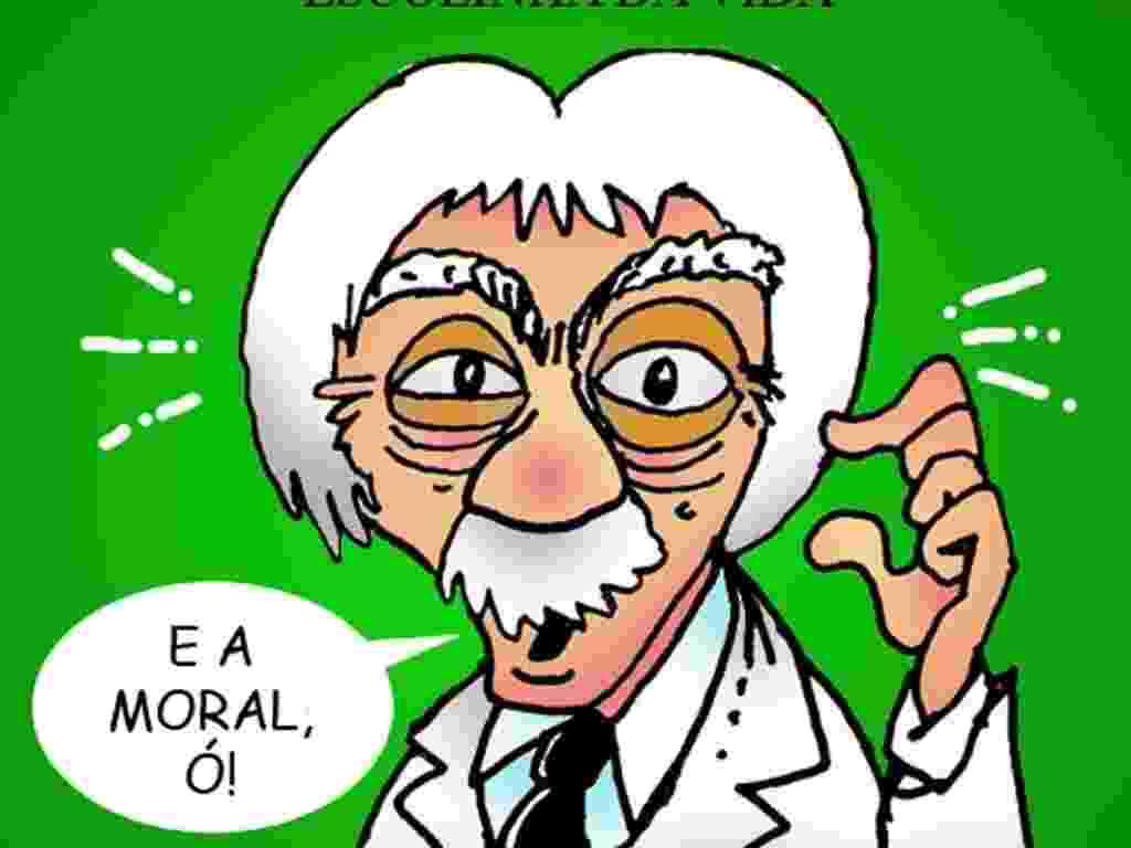 Jal Lovetro relembrou o bordão mais famoso de Chico Anysio em sua caricatura. A exposição estará em cartaz no Risadaria, a partir deste sábado (24) - Divulgação