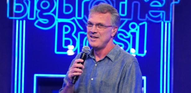 """O apresentador do """"BBB12"""", Pedro Bial, sempre faz um discurso na eliminação de um brother do programa"""