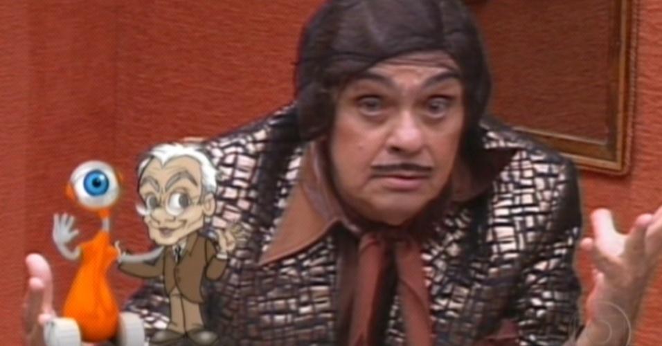 """Homenagem ao humorista Chico Anysio com o boneco do """"BBB"""" (23/3/12)"""