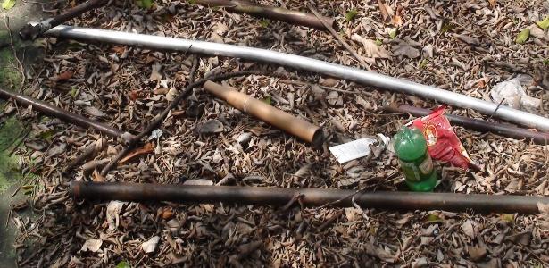 Pedaços de ferro e rojões foram usados em pancadaria entre corintianos e palmeirenses
