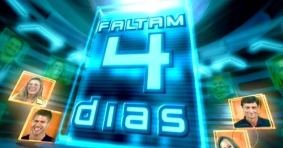 Programa deste domingo começou com contagem regressiva para a final (25/3/12)