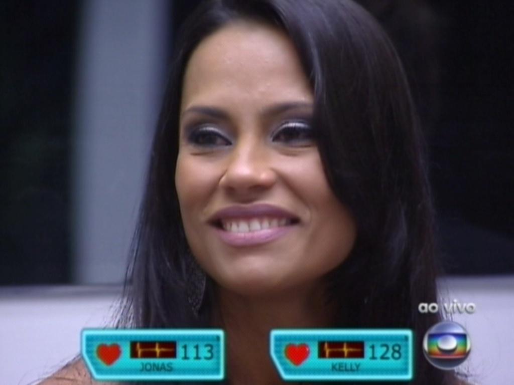 Assim como Jonas, Kelly também se emocionou com o discurso de eliminação (25/3/12)