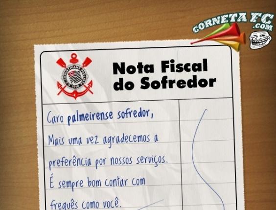 Corneta FC: Envie a nota fiscal para o seu amigo palmeirense fruguês