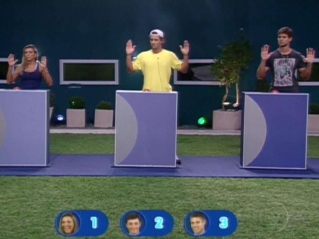 Fabiana, Fael e Jonas participam da última prova do líder do