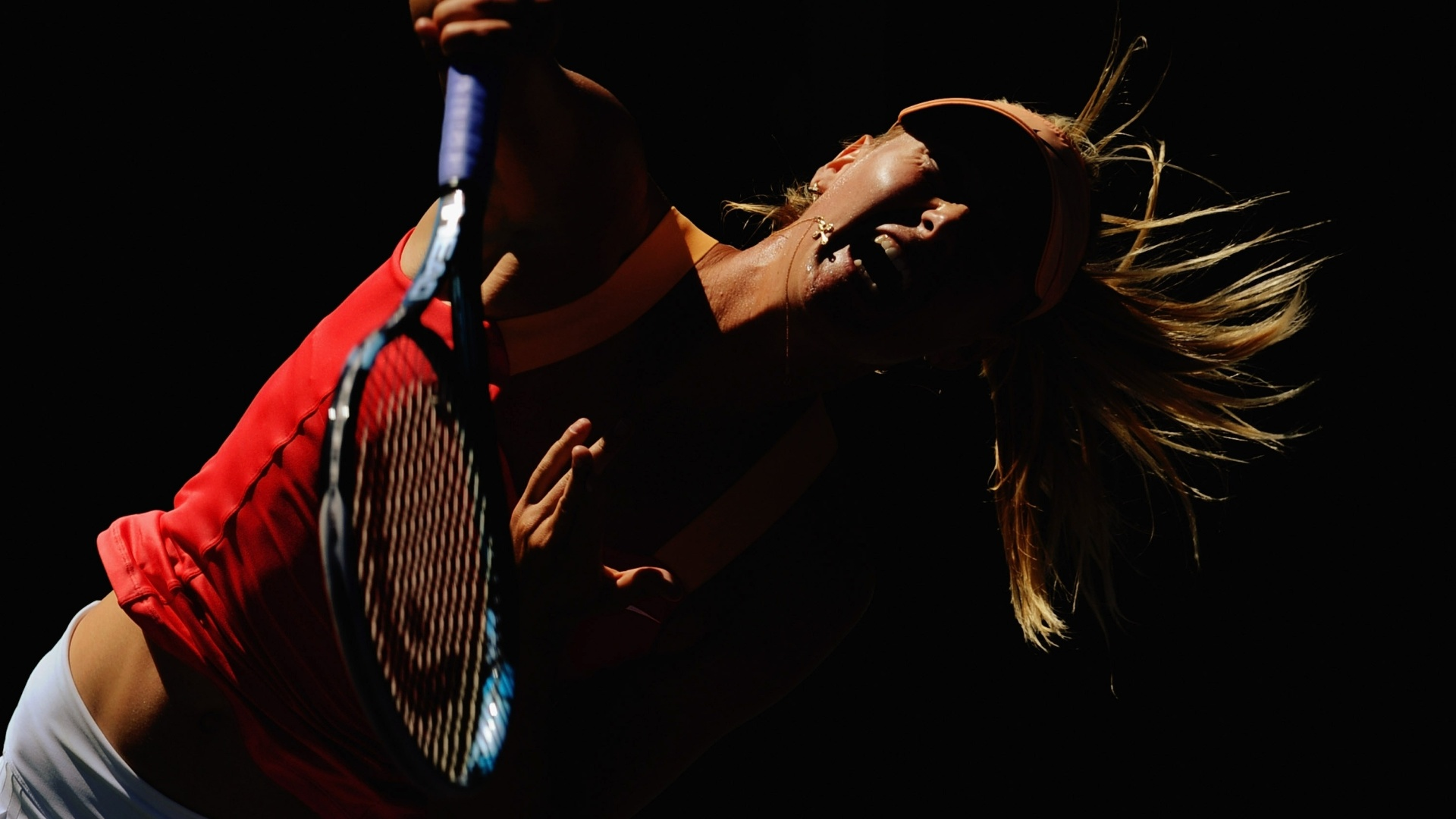 Maria Sharapova 'grita' durante a partida de oitavas de final pelo Masters 1000 de Miami
