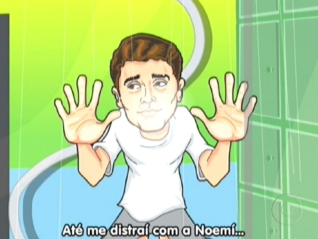 Animação de Maurício Ricardo relembrou o romance entre Fael e Noemí (27/3/12)