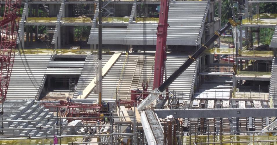 Arena Fonte Nova está em obras para a Copa do Mundo de 2014; o estádio receberá a competição em Salvador