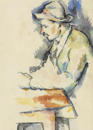 """Desenho do pintor impressionista Paul Cézanne, """"Jugadores de cartas"""" - EFE/CHRISTIE´S/SÓLO"""