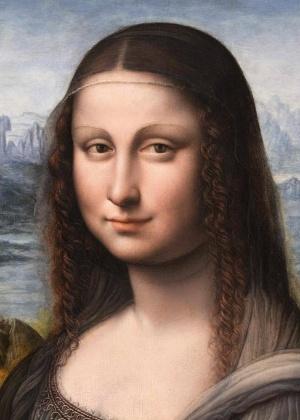 "Detalhe da pintura ""Retrato de Lisa Gherardini del Giocondo, a La Gioconda"" encontrada no Museu El Prado, em Madri - REUTERS/Charles Platiau"