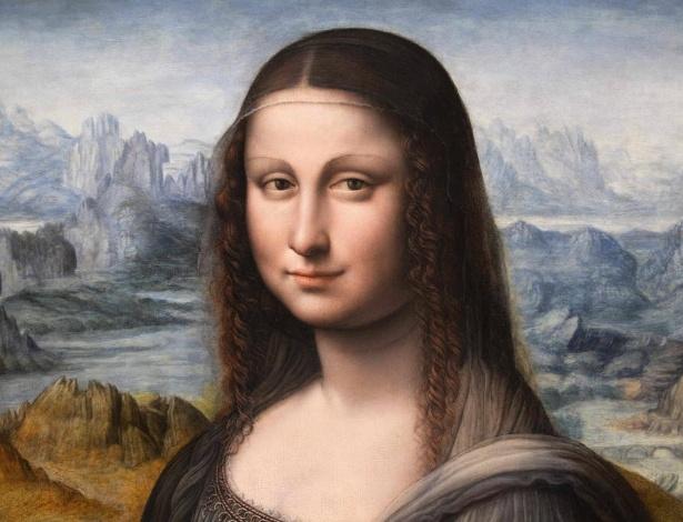 "Detalhe da pintura ""Retrato de Lisa Gherardini del Giocondo, a La Gioconda"" encontrada no Museu El Prado, em Madri (27/3/2012) - REUTERS/Charles Platiau"