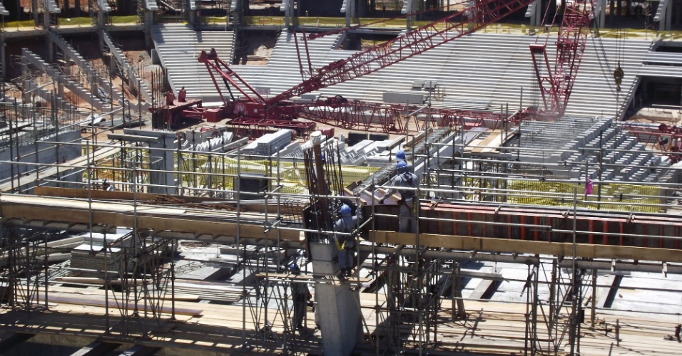Detalhe das obras na Arena Fonte Nova, que receberá a Copa do Mundo de 2014