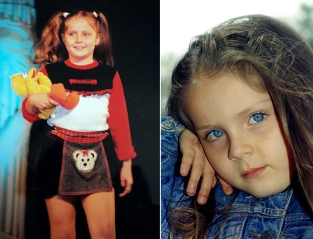 Ex-BBB Renata aparece fazendo poses em foto de sua infância publicadas no site oficial do