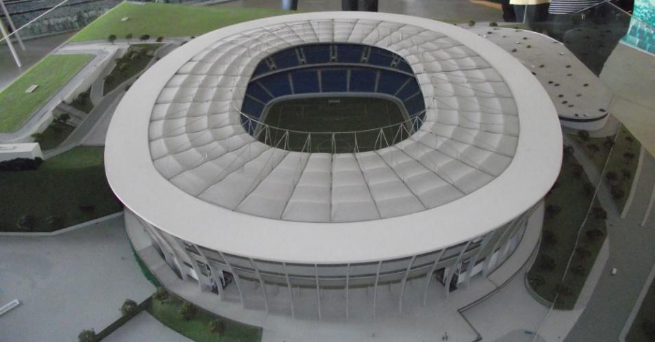 Maquete da Arena Fonte Nova, estádio que receberá a Copa do Mundo em Salvador