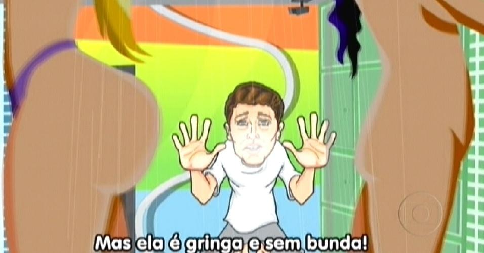 Maurício Ricardo também brincou com as diferenças entre as brasilleiras e Noemí (27/3/12)