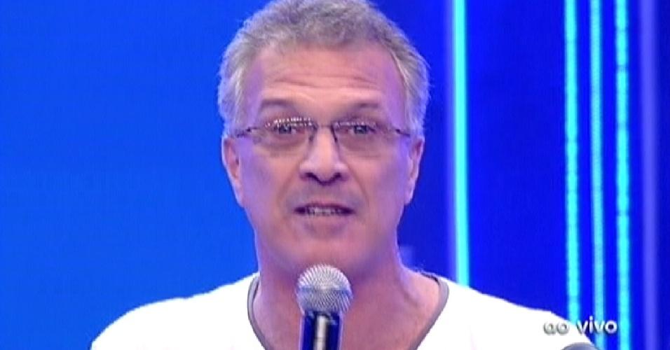 Pedro Bial apresenta o programa do paredão entre Fael e Jonas (27/3/12)