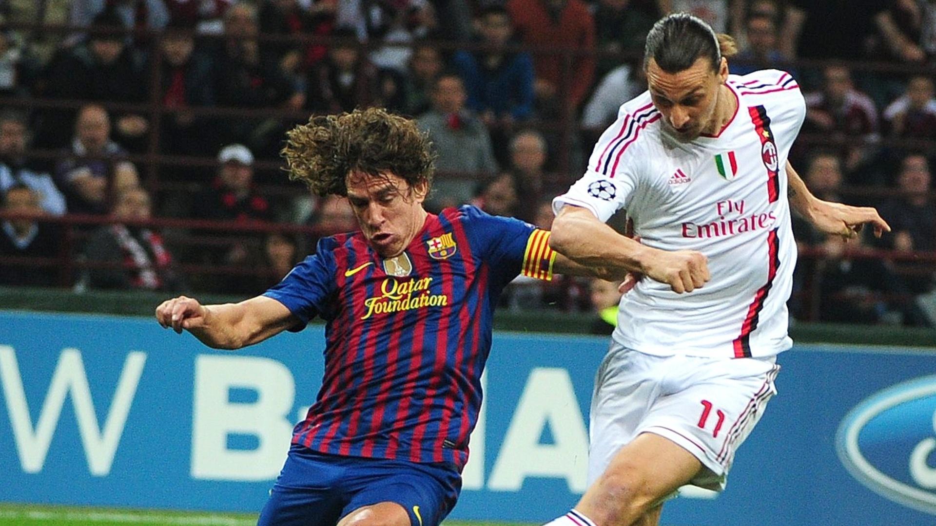 Charles Puyol chega atrasado na definição do sueco Zlatan Ibrahimovic