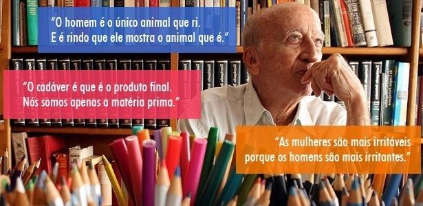 Imagem para chamar frases de Millôr Fernandes - Ricardo Moraes/Folhapress e Arte/UOL